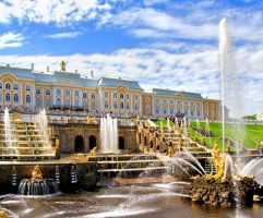 Samson Fountain of the Grand Cascade near Peterhof Palace, Russia
