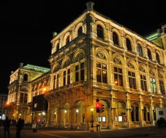 Vienna State Opera - Wiener Staatsoper at night