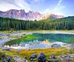 Озеро Карецца, Италия